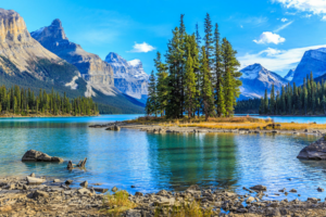 Jasper National Park, campsites in Canada