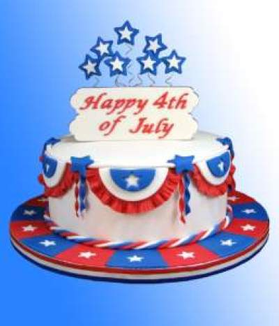 4 of July Bandstand Cake