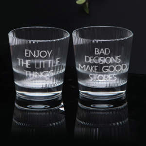 Whiskey glasses for brother on Raksha Bandhan