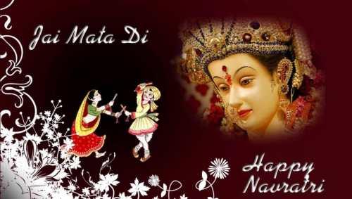 Jai Mata Di Happy Navratri Maa Durga And Garba Dancing festive season