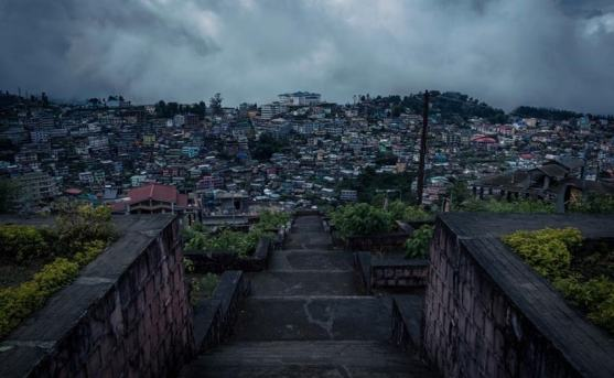 View of Kohima City, Northeast India- Namaste India