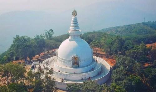 Vishwa Shanti Stupa, Rajgir, Buddhist travel
