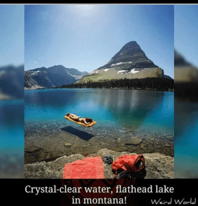 Crystal-clear water, flathead lake in Montana, breathtaking places