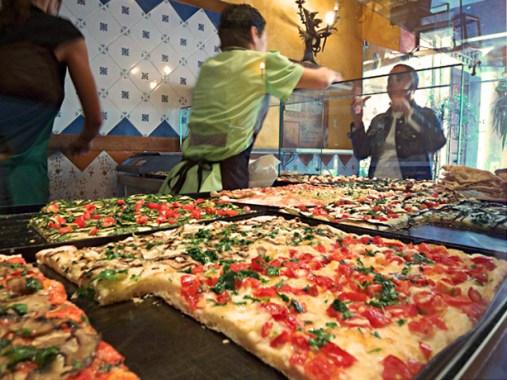 Pizza al taglio, street food Italy