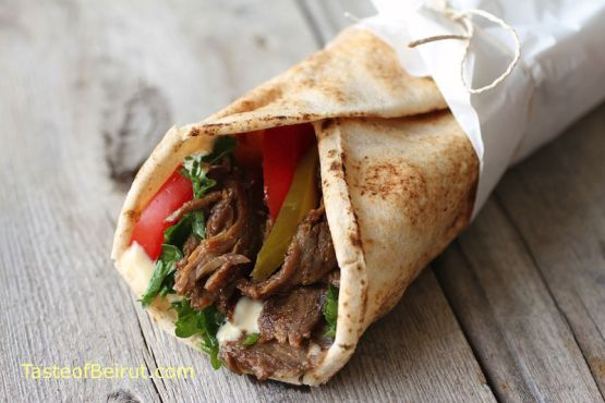 shawarma sandwich, street food Lebanon