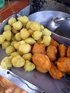 Fishball and Kwek Kwek, Filipino street food from Camarines Norte