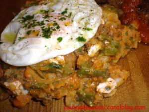 Kafteji, street food Tunisia
