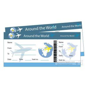 Fake plane ticket