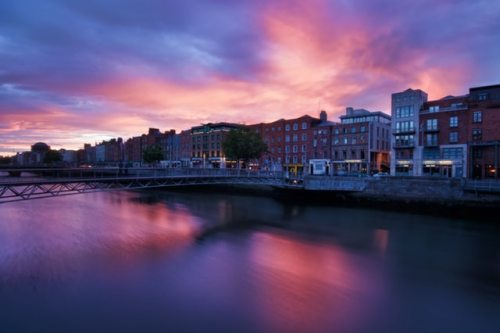 buildings with waterfront view, European country Ireland