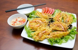 Shrimp fried pancake of West Lake-Vietnam