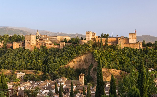 Alhambra Granada Spain fortress palace building