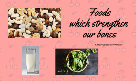 Foods which strengthen our bones