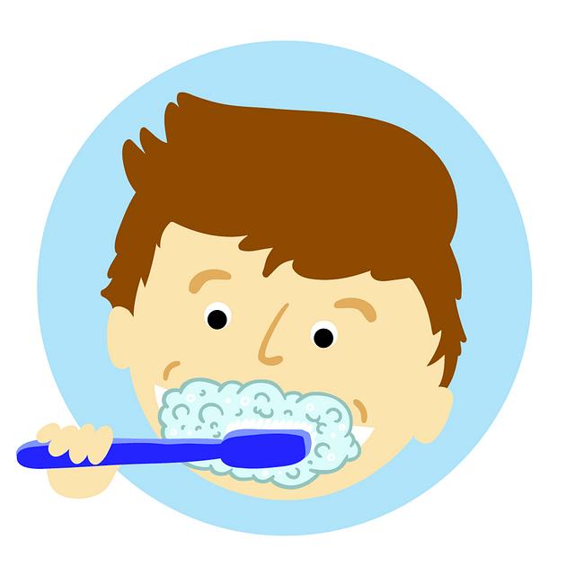 brushing teeth for good hygiene