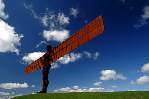 English Icon or the Angel of the North designed by Antony Gormley