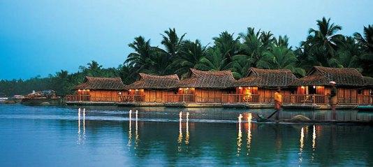 Floating cottages in Poovar Estuary, honeymoon Kerala