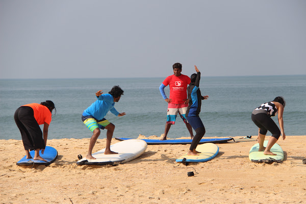 The Mantra Surf Club in Mulki hosts up to a thousand surfers every year. courtesy ravi shankar paranjpe / mantra surf club. Mulki surfing