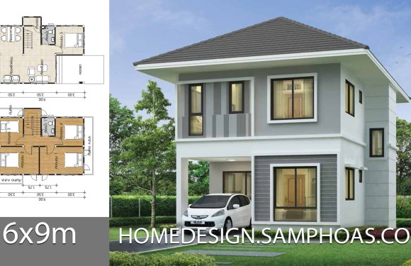 Small House design 6x9m with 5 bedrooms