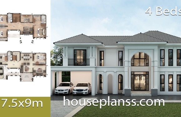 House design Plans 17.5×9 with 4 bedrooms