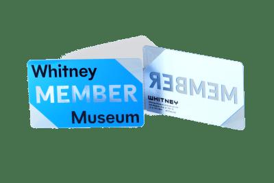 Museum Clear Plastic Membership Card