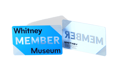 Museum Clear Plastic Membership Card