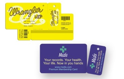 Plastic VIP Card With Keytag