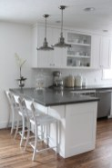 72 Beautiful Kitchen Countertop Ideas with White Cabinets Look Luxurious 2206