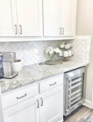 72 Beautiful Kitchen Countertop Ideas with White Cabinets Look Luxurious 2218