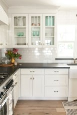 72 Beautiful Kitchen Countertop Ideas with White Cabinets Look Luxurious 2197