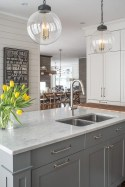 72 Beautiful Kitchen Countertop Ideas with White Cabinets Look Luxurious 2225