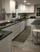 72 Beautiful Kitchen Countertop Ideas with White Cabinets Look Luxurious 2231