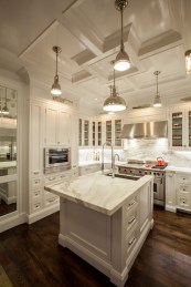 72 Beautiful Kitchen Countertop Ideas with White Cabinets Look Luxurious 2232