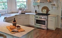 72 Beautiful Kitchen Countertop Ideas With White Cabinets Look Luxurious 53