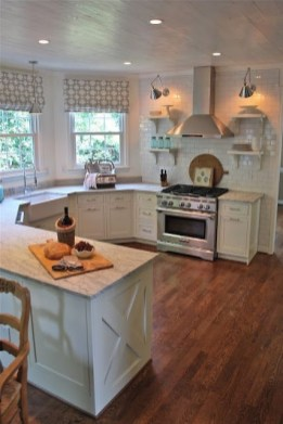 72 Beautiful Kitchen Countertop Ideas with White Cabinets Look Luxurious 2246