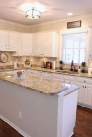 72 Beautiful Kitchen Countertop Ideas with White Cabinets Look Luxurious 2252