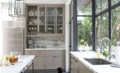 72 Beautiful Kitchen Countertop Ideas With White Cabinets Look Luxurious 62