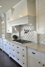 72 Beautiful Kitchen Countertop Ideas with White Cabinets Look Luxurious 2260
