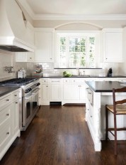 72 Beautiful Kitchen Countertop Ideas with White Cabinets Look Luxurious 2201
