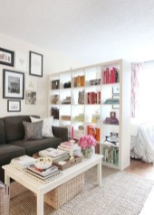 92 Amazing Living Room Designs and Ideas for Your Studio Apartment 2807