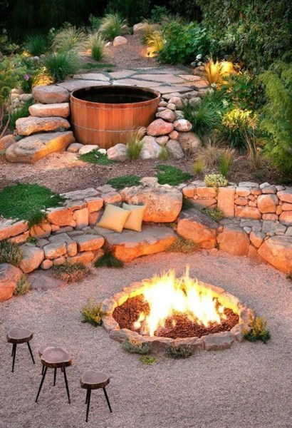 69 Backyard Firepit Design that Inspires - How to Improve Your Landscape with A Backyard Firepit 6427