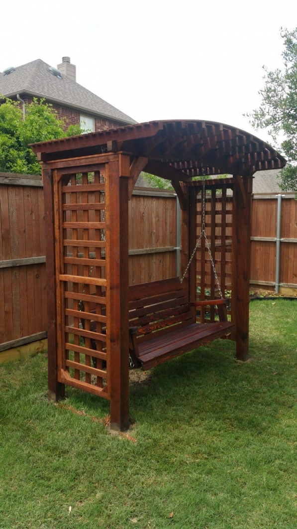 84 Backyard Decoration Ideas for Transform Your Backyard with A Quality Wood Pergola or Arbor 6341