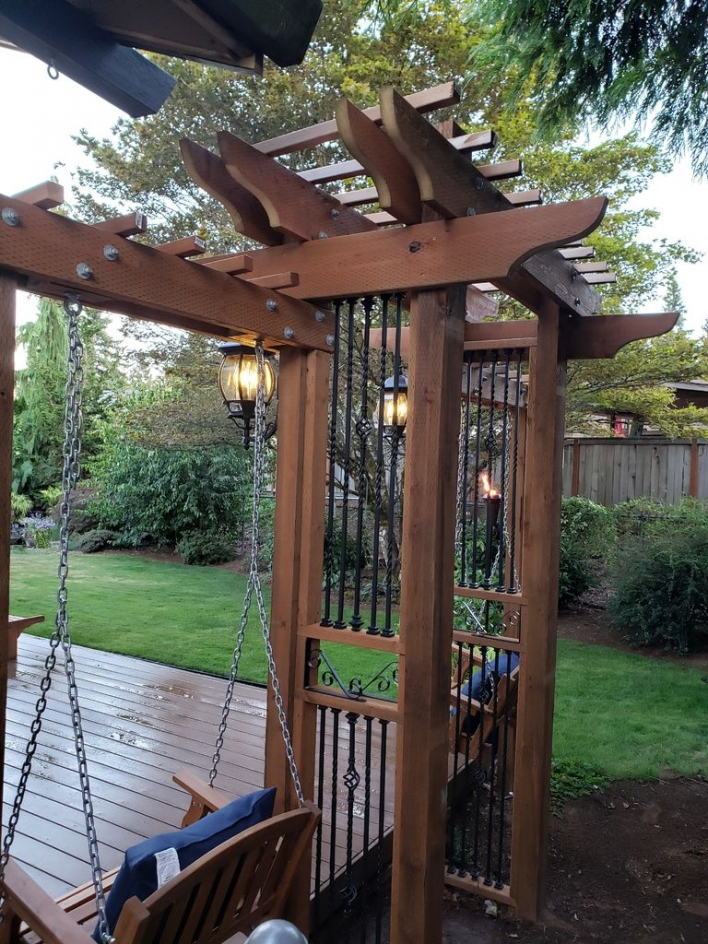 84 Backyard Decoration Ideas for Transform Your Backyard with A Quality Wood Pergola or Arbor 6389