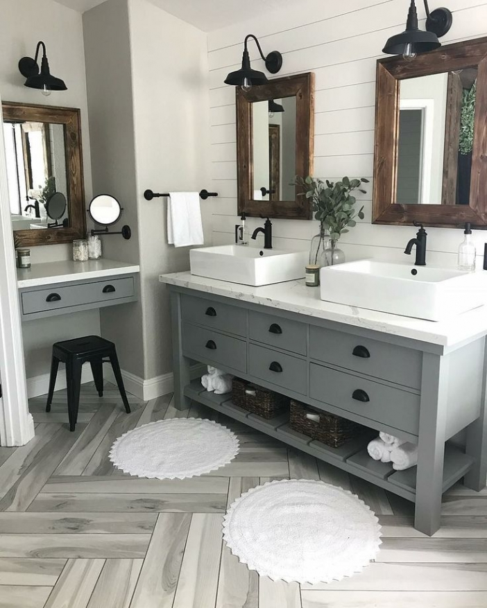91 Modern Double Bathroom Vanity - is Your Modern Double Bathroom Vanity Large Enough to Accommodate Two People Simultaneously? 5910