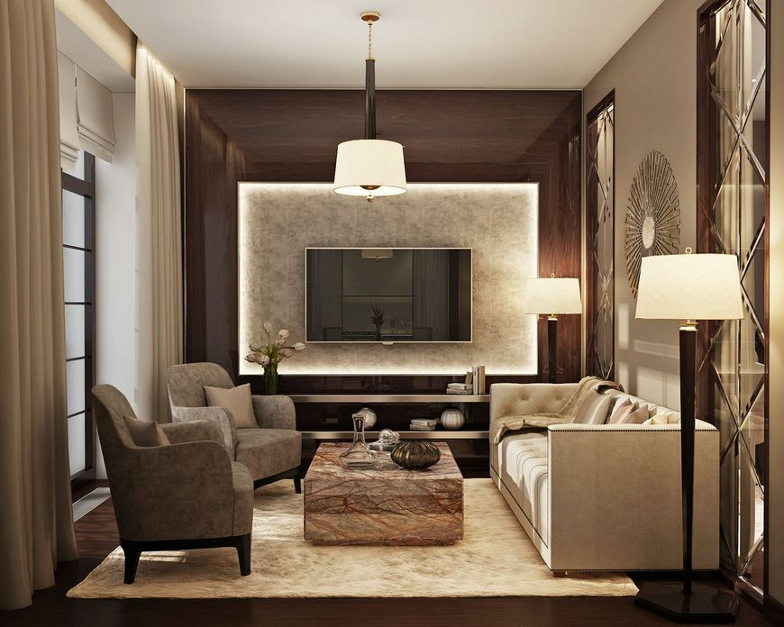 83 Interior Design Models That Look Luxurious And Are Designed To Decorate The Living Room 13
