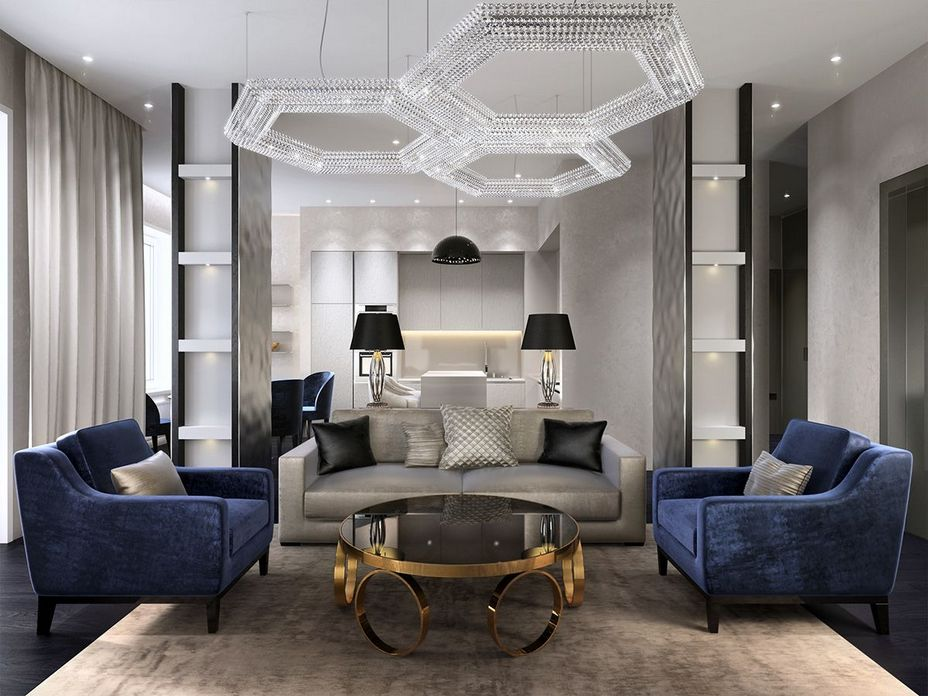 83 Interior Design Models That Look Luxurious And Are Designed To Decorate The Living Room 55