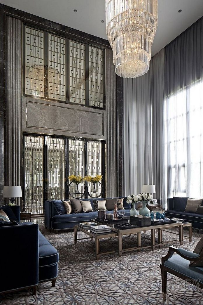 83 Interior Design Models That Look Luxurious And Are Designed To Decorate The Living Room 68