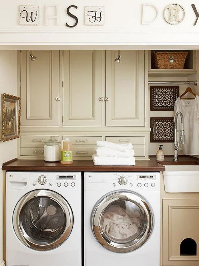 87 Outstanding Basement Laundry Rooms Decoration Models 44