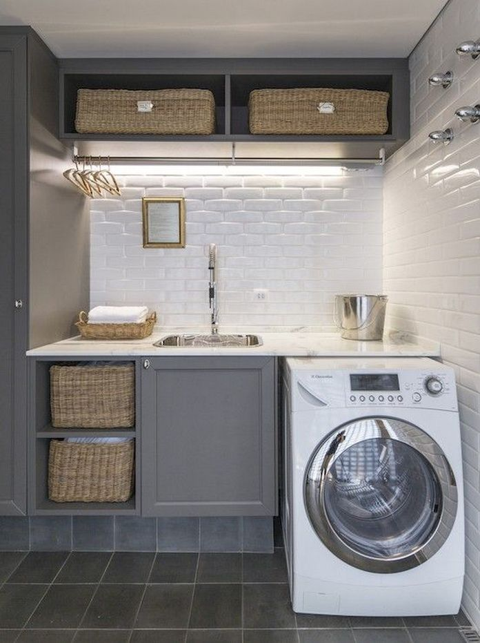 87 Outstanding Basement Laundry Rooms Decoration Models 68