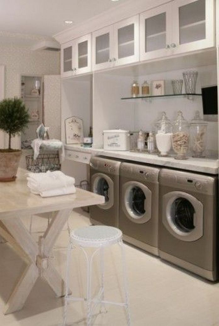 87 Outstanding Basement Laundry Rooms Decoration Models 71