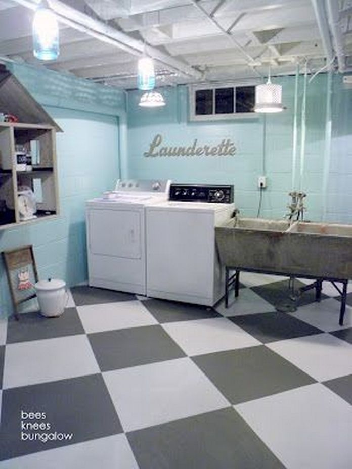 87 Outstanding Basement Laundry Rooms Decoration Models 75