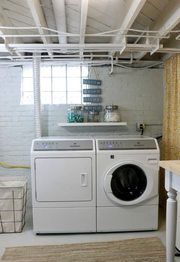 87 Outstanding Basement Laundry Rooms Decoration Models 83
